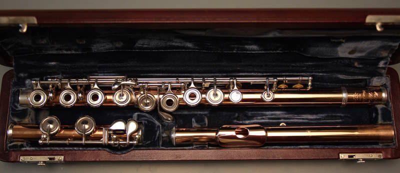 Gebrauchte Querflöte 333 Gold Mehnert