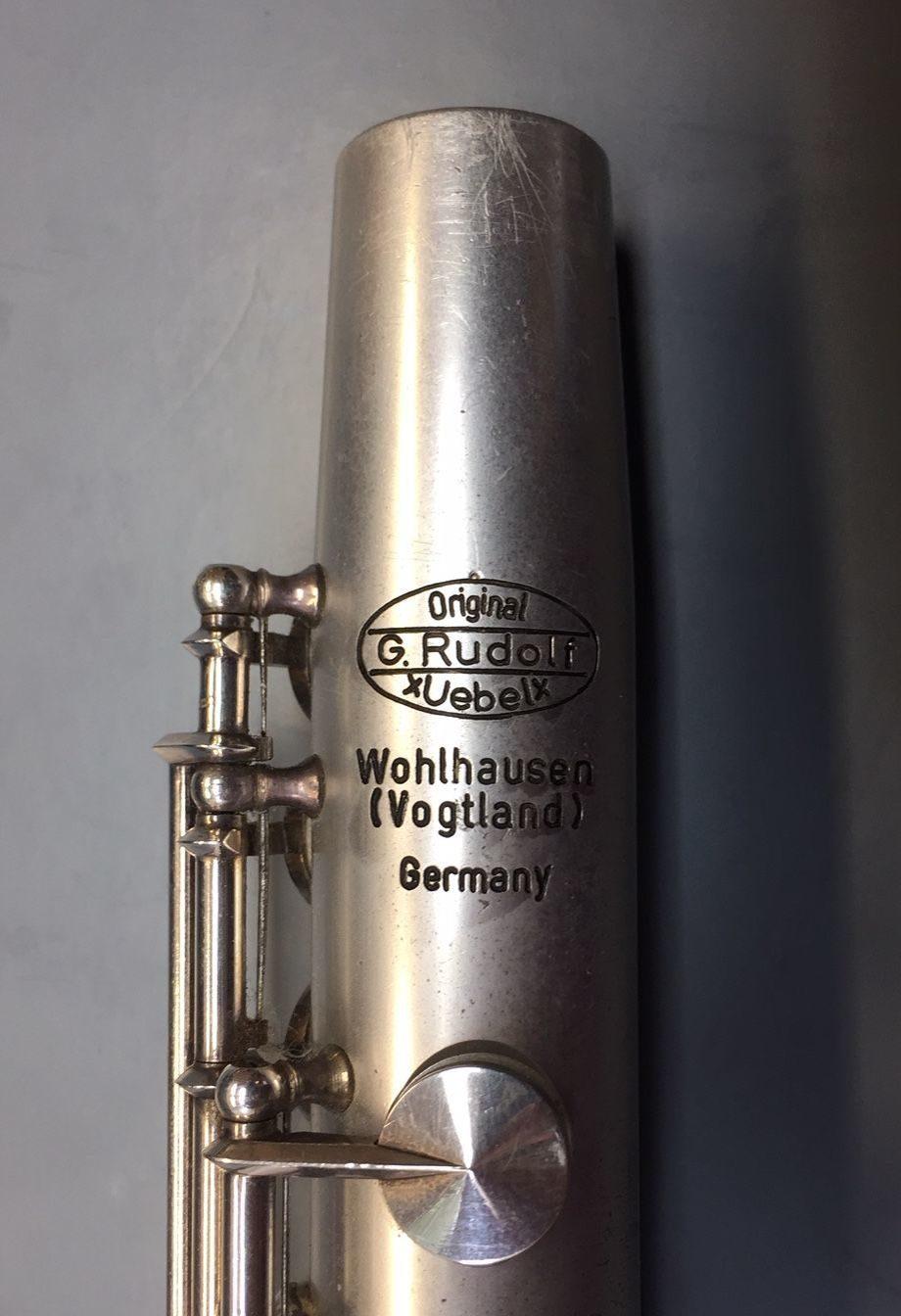 G Rudolf Uebel Querflöte Aluminium Stempel