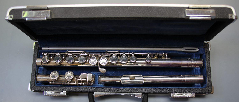 Querfloete Pearl NST 97 Silberrohr Deckelklappen nr 62126