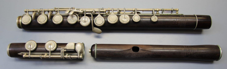 Gebrauchte Holzflöte Carl Schreiber Markneukirchen